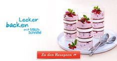 Milch-Schnitte® wird mit fruchtiger Granatapfel-Creme zum Löffelvergnügen im Glas. Jetzt entdecken!