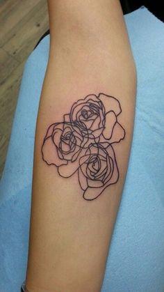 Abstract rose tattoo by Kaitlin Matthews @cakelintattoos