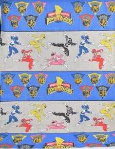 Mighty Morphin Power Rangers 1994 Saban Curtain Panel Cartoon Fabric Material #PowerRangers #Cartoon #90s #Ninja