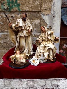 Paper Mache Nativity sets - and sizes available. See our website for details. Christmas Nativity Scene, Tall Christmas Trees, Family Christmas, Christmas Holidays, Christmas Crafts, Christmas Decorations, Nativity Sets, Xmas, House Ornaments