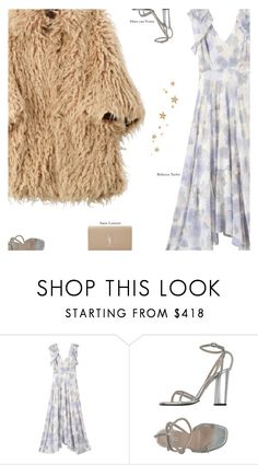 """Untitled #3402"" by amberelb ❤ liked on Polyvore featuring Juyna Watanabe Comme des Garçons, Rebecca Taylor, Dries Van Noten and Yves Saint Laurent"
