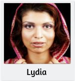 Lydia – a woman of Asia Minor (present-day Turkey). Lydia is a former slave and a widow. She took over her husband's cloth-dyeing business and is now fairly wealthy. Neither Roman nor Greek, she has more freedom as a woman in Macedonia. She has long, brown curls, deep brown eyes, and skin the color of walnuts.