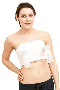 Simple Wishes Hands-Free Breastpump Bra, Pink, XS/S/M - - The Simple Wishes Hands Free Pumping Bustier Bra provides convenience to mothers while they are pumping breast milk, leaving them free to do other tasks. Hands Free Pumping, Pumping At Work, Bustiers, Thing 1, Breastfeeding And Pumping, Baby List, Pink Bra, Portrait, Simple