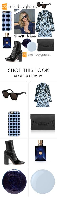 """""""SmartBuyGlasses! Win! Designer Sunglasses"""" by mandimwpink ❤ liked on Polyvore featuring Gentle Monster, House of Holland, Casetify, Givenchy, Valentino, Versace, Lauren B. Beauty, Essie, sunglasses and smartbuyglasses"""