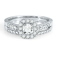 Helzberg Diamond Symphonies® 1 ct. tw. Diamond Engagement Ring Set in 14K Gold