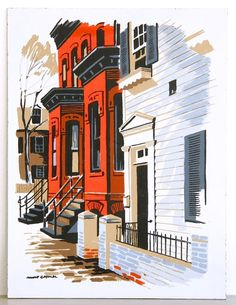 Colonial Color, New Orleans Serigraph 1950's www.midcenturyserigraph.com