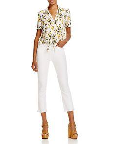 $Equipment Keira Tie Front Silk Top - 100% Exclusive - Bloomingdale's