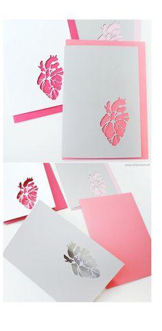 Coeur anatomie en papier