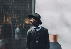 Hat, man, glass and bow tie HD photo by Clem Onojeghuo ( on Unsplash By Any Means Necessary, Men With Street Style, Fashion Images, Wearing Black, Dress For You, Neue Trends, Leather Men, Leather Jackets, Black And Brown