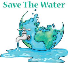 'Save Water' Poster by jurassicshop - Millions of unique designs by independent artists. Find your thing. Save Water Poster Drawing, Poster On Save Water, Save Earth Drawing, Save Earth Posters, Earth Drawings, Water Art, Environmental Art, Cute Drawings, Water Cycle