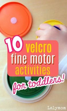Get those hands working! Is anything more fun than Velcro?  These easy to put together activities just need a bit of hook and loop tape. Fuzzy, noise making Velcro is such a fun sensory and fine motor experience!  #finemotor #toddler #preschool #kindergarten #velcro