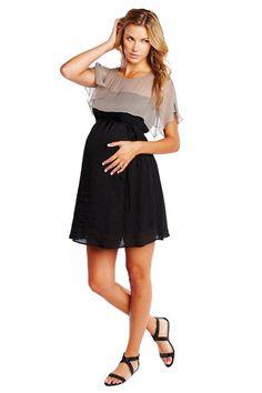 [Código: PRE0028] Vestido premamá en dos tonos