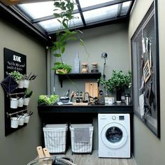 7 Small Laundry Room Design Ideas - Des Home Design Outdoor Laundry Rooms, Tiny Laundry Rooms, Outside Laundry Room, Small Laundry Area, Küchen Design, Design Case, House Design, Tile Design, Design Concepts