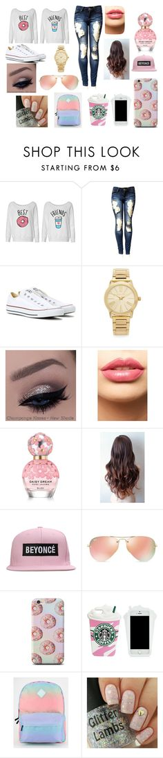 """""""Best friends"""" by cookie2314 on Polyvore featuring beauty, Converse, Michael Kors, LASplash, Marc Jacobs, Ray-Ban and Vans"""