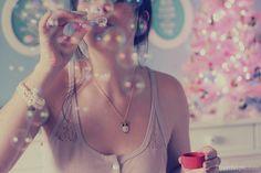 Blowing Bubbles fashion cute photography vintage bubbles pastel blowing