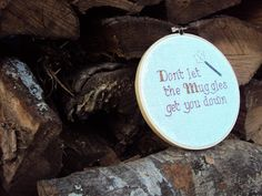 Harry Potter Quote, Completed Cross Stitch, 6 inch, Wall Art. $20.00, via Etsy.