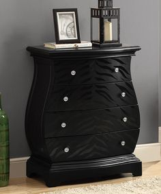 Look at this #zulilyfind! Black Tiger Veneer Bombay Chest by Monarch Specialties #zulilyfinds