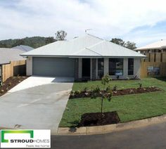 This Bronte 240 design was built by our Stroud Homes Brisbane South Residential team in only 14 weeks, just in time for Christmas! #stroudhomes #feelslikehome #newhome #blackandwhitequotes #happy #exciting