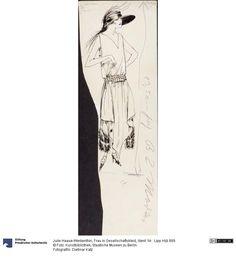 Frau in Gesellschaftskleid | Haase-Werkenthin, Julie, 1921