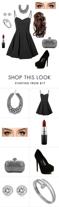 """Untitled #88"" by alwateenhosam on Polyvore featuring Glamorous, MAC Cosmetics, Bottega Veneta, ALDO, Michael Kors and Cartier"