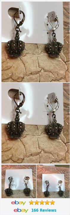New Without Tags Juicy Couture Crown Rhinestone Earrings http://www.ebay.com/itm/New-Without-Tags-Juicy-Couture-Crown-Rhinestone-Earrings-/322206114687?ssPageName=STRK:MESE:IT