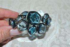 NWT $9K IPPOLITA Wicked London Blue Topaz Diamond Rhodium Hero Bangle Bracelet  | eBay
