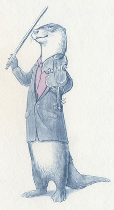 Sherlock - The Otter and The Fiddle von bioluminescentbunny auf DeviantArt - Sherlocked AND Cumberbatched - Sherlock Bbc, Sherlock Fandom, Sherlock Otter, Sherlock Fan Art, Sherlock Drawing, Martin Freeman, Benedict Cumberbatch, The Nerd, Vatican Cameos
