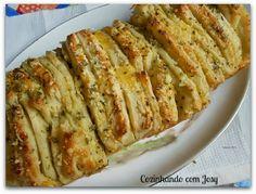 Pull-Apart Bread de Ervas - Cozinhando com Josy