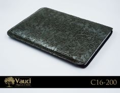 Here's our Silver Motif Custom Leather Laptop Sleeve! Hand-stitched and perfect in every way! Fits all standard size laptops and fits snug. vauci.com