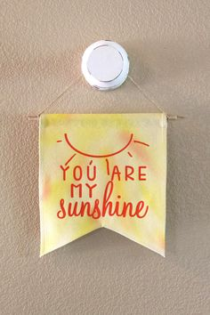 You are my sunshine handcrafted canvas banner by MadewithLovebug