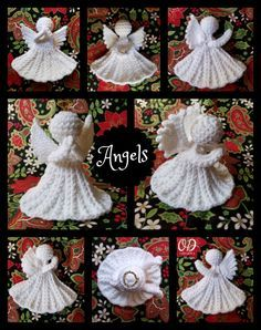 Crochet Angel Pattern #2 - Christmas Angel Ornament - designed by Oombawka Design.  Designed using Red Heart Super Saver Yarn and a 4.0 mm hook, this lovely Angel does not require blocking starch / stiffening.