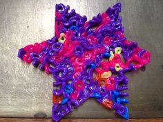 Stjerne laget av Hama perler / Star made with Hama beads. Hama Beads, Birthday Candles, Stars, Sterne, Hama Bead, Star