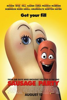 High resolution official theatrical movie poster ( of for Sausage Party Image dimensions: 1382 x Starring Seth Rogen, Jonah Hill, Salma Hayek, Kristen Wiig Films Hd, Hd Movies, Movies Online, Movies And Tv Shows, Movie Tv, 2016 Movies, Movies Free, Cartoon Movies, Jonah Hill