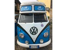volkswagen t1 food-truck-tetto-alto blu-azzurro - 0