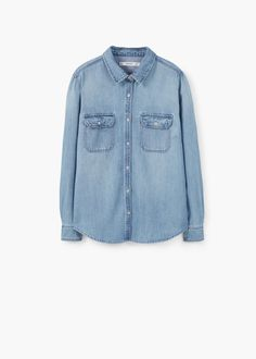 Chest-pocket denim shirt