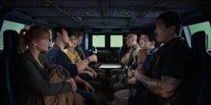 Bryce Dallas Howard, Ted Levine, Chris Pratt, Daniella Pineda, and Justice Smith in Jurassic World: Fallen Kingdom (2018)