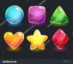 stock-vector-cool-shiny-glossy-colorful-shapes-vector-assets-for-gui-design-351193961.jpg (1500×1308)