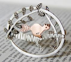 Red squirrel brooch by Helen Shere