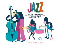 GIF with the characters from our short film 'Jazz that nobody asked for'. See the full short film here: https://vimeo.com/59584804 #bennybox #jazz #jazzthatnobodyaskedfor
