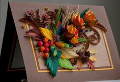 3d quilled greeting card