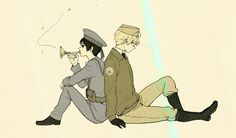 America and Japan from Hetalia ( AmeJap couple)