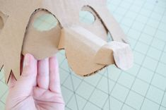 Project Nursery - DIY Cardboard Fox Mask