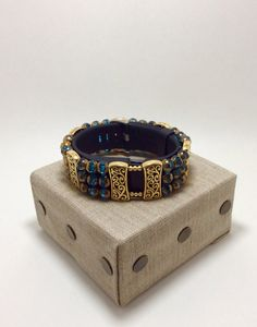 FabFit Bracelet Cover for Fitbit Charge HR Gold Aqua Glass Bead Style by FabFitBracelets on Etsy https://www.etsy.com/listing/280677094/fabfit-bracelet-cover-for-fitbit-charge