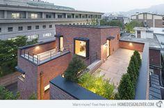 A Minimalist Brick House in Hyojadong, South Korea