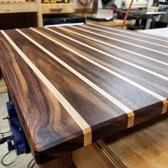 Gazing across the wide open expanse of walnut in this kitchen prep station. Walnut as far as the eye can see.   #woodworking