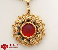 Tutorial Anice Pendant with Pellet beads Beading by Ellad2