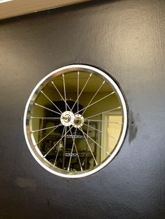 Little Yellow Barn: Bam Bam's BBQ Restaurant Reveal ~ Great ideas for re-doing an old restaurant and making your own. LOVE the bicycle wheel window!