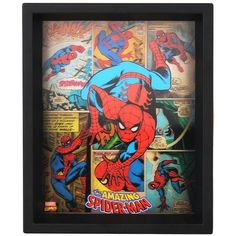 Holographic Amazing Spider-Man Shadowbox ($13) ❤ liked on Polyvore featuring home, home decor and vintage home decor