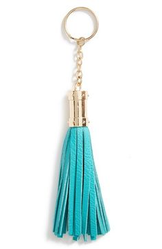 Free shipping and returns on NB Handbags Tassel Key Ring (Juniors) at Nordstrom.com. A cool key ring made with goldtone hardware and fun, leather-look tassels is like jewelry for your keys.