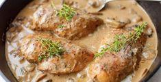 Bleskový oběd, se kterým zazáříte: kuřecí masíčko na žampionech - Food And Drink, Cookies, Chicken, Meat, Food Ideas, Fitness, Inspiration, Crack Crackers, Biblical Inspiration